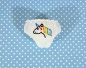 Rainbow Unicorn Panties for Neo Blythe Doll
