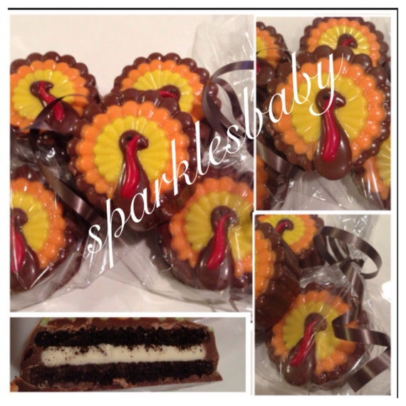 Decorated Chocolate Turkeys Www Dunmorecandykitchen Com: Thanksgiving Turkey Chocolate Covered Oreo Set Of By
