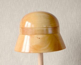 Wooden Cloche  Hat Block – Cloche SET  1 - Millinery Hat Block