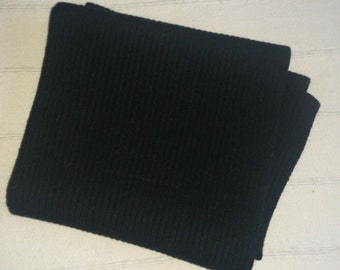 Black wool scarf gift for him winter scarf