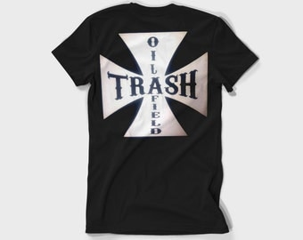 Oilfield Trash Roughneck T shirt black all sizes  Cross