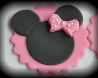 Minnie Mouse Cupcake Toppers (Fondant) 12