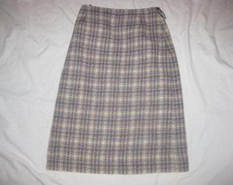Vintage-TREFRIW-26-W-Pure-Wool-Skirt-EXCELLENT