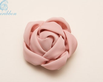 pink flower hair clip -  chiffon flower hair bow 118