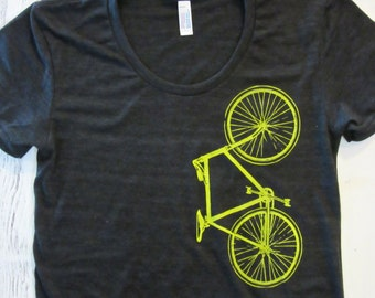 Women's bike shirt. American apparel. Bicycle Tshirt.