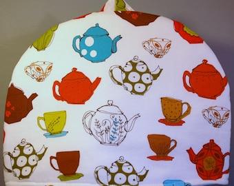 Teapot Print Tea Cozy Size Medium (MD6314)