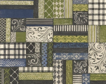 Half Yard Farm Chic - Patchwork - Cotton Quilt Fabric - by Kate McRostie for Windham Fabrics (W2209)