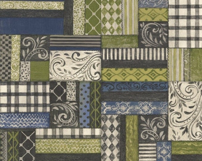 Fat Quarter Farm Chic - Patchwork - Cotton Quilt Fabric - by Kate McRostie for Windham Fabrics (W2209)