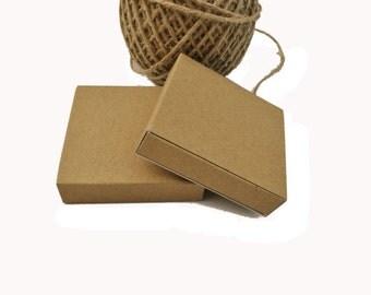 "Match box, slider box, small tray + sleeve box I 20 Kraft, white, grey match boxes I Small square gift boxes 2.56x2.56x0.6"""