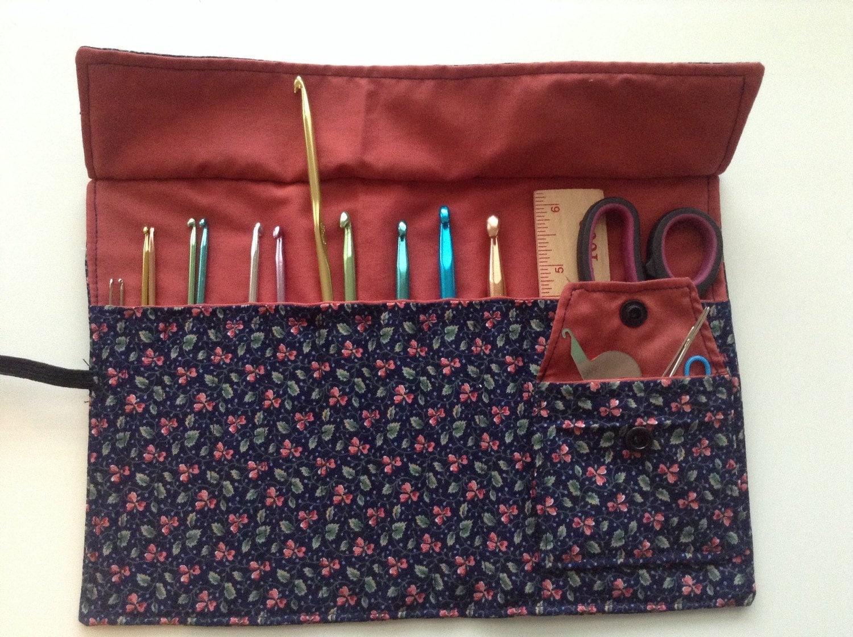 Crochet Hook Case : Crochet hook roll case / organizer