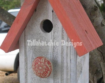 Birdhouse, Birdhouses, Reclaimed Barnwood Birdhouse, Nautical Birdhouse, Beach Birdhouse, Distressed Rustic Birdhouse, Primitive Birdhouse