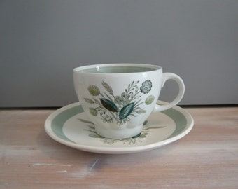 Woods Ware Clovelly Tea Cup & Saucer 1950's Retro Vintage Mid Century