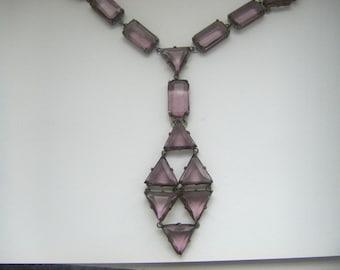 CZECHOSLOVAKIAN ART DECO  Antique Czech glass necklace. Art deco czech glass necklace. Czech jewelry