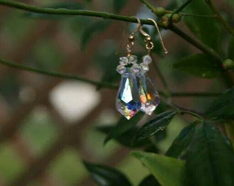 Elegant drop Swarovski earrings.