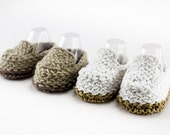 KNITTING PATTERN, Loafer Booties, Quick Knit, Baby Boy Booties, Summer Booties, 2 Sizes, Easy Baby Booties Pattern,PDF, Instant Download
