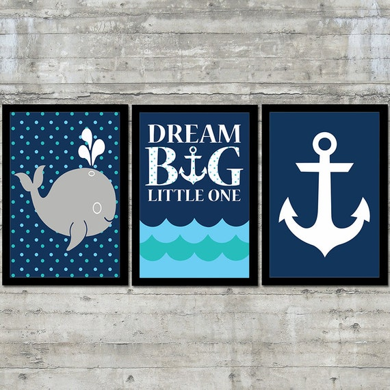 Nautical Decor Nautical Nursery Art Kids Nautical Decor