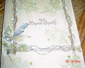 8x 5 1/2  inch sympathy card with envelope simple verse on the inside  OOAKHandmade Card