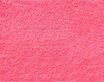 Fuchsia Terry Cloth By The Yard - 56-58""