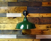 Custom Order for taramg79 | Vintage Green Enamel Barn Sconce Upcycled Steampunk / Industrial Style Wall Light