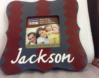 Hand painted personalized picture frame