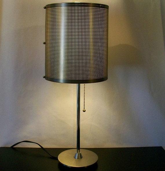 Retro Stainless Steel Modern Table Desk Lamp Purse Designer Wendy Stevens Original 1980's