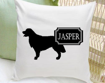 Personalized Pet Pillow - Dog Silhouette Decorative Pillow - Dog Home Decor