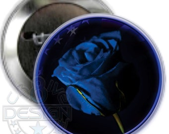 Law Enforcement End of Watch Memorial Rose Button, Police,Sheriff,Memorial,Memory,First Responders