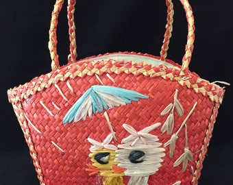 Child's Straw Purse