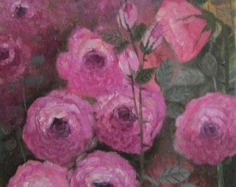 Beautiful Roses, original oil painting, 11x14