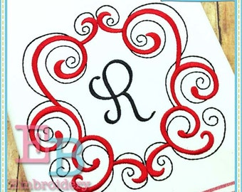 Regal Scroll Frame - This design is to be used on an embroidery machine. Instant Download