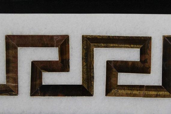 Marble Inlay Borders : Marble inlay wall tiles greek border design kitchen
