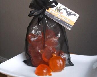 Pumpkin Soap - Halloween Soap, Halloween Decor, Pumpkin Party Favors, Halloween Party Favor, Halloween Gift - 12 Piece Soap Gift Set