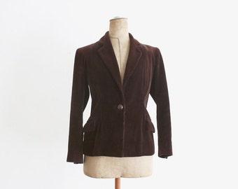 1940s Brown Corduroy Jacket