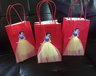 Disney Princess Snow white Birthday favor 6 Bags