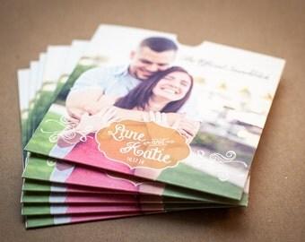 CD sleeve, Custom, DVD sleeve, wedding favour, wedding gift, wedding Cd case, Wedding CD