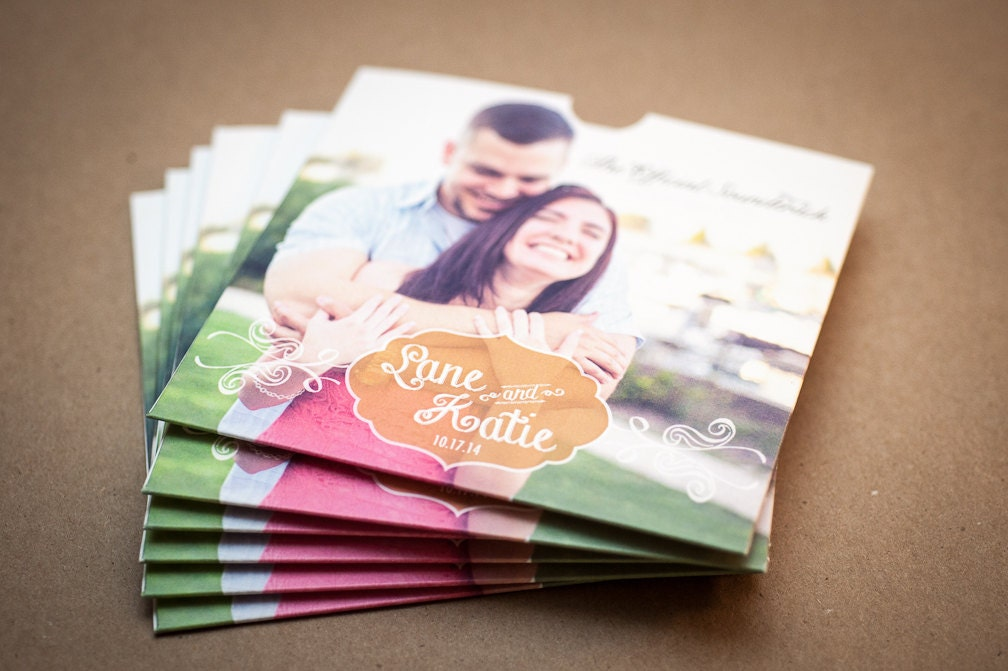 This is an image of Tactueux Personalised Cd Labels Wedding