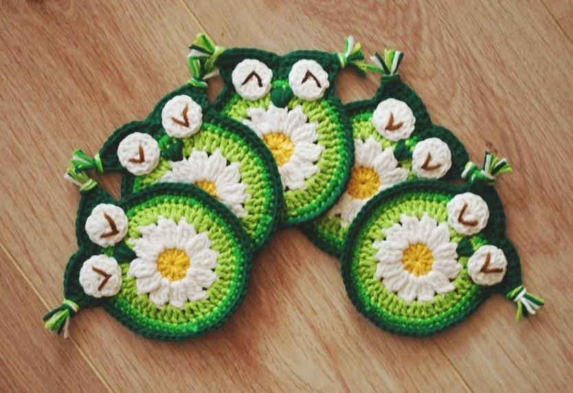 🔎zoom & Crochet daisy owl coaster Crochet Owl Coasters crochet owl pillowsntoast.com