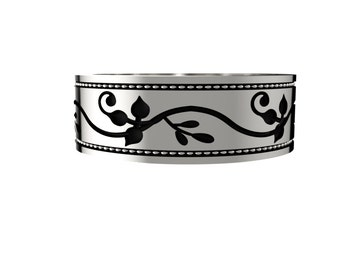 Sterling Silver America / Canadian Ivy Vine Ring
