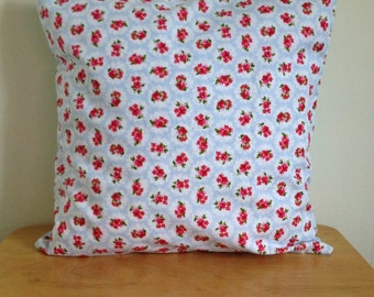 Rose and Hubble Cushion/Cushion Cover in BLUE, Cath Kidston INSPIRED Home Decor, Floral Home Decor, Floral Cushion, Home Decor, Flower Gift