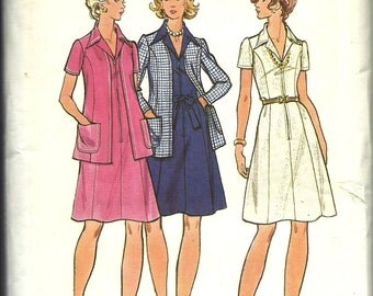 Butterick Pattern 6982    Misses and Women's  Dress and Jacket    size  16 or 18  uncut