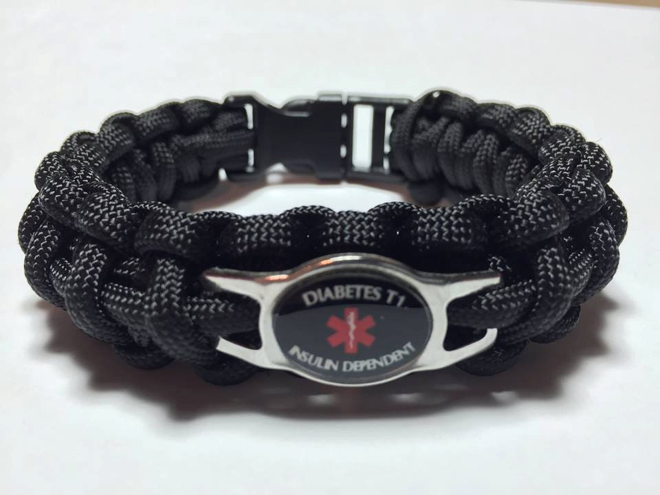 custom paracord diabetic alert bracelet t1 insulin