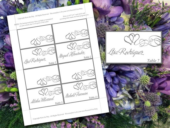 tent place cards microsoft word template by paintthedaydesigns