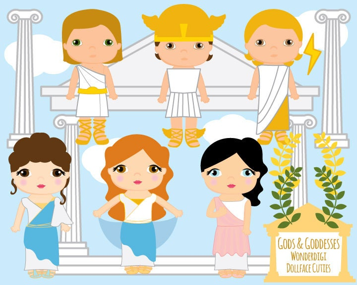 Cute Kids Clipart Greek Gods Goddesses Kids Toga Party – Toga Party Invitations