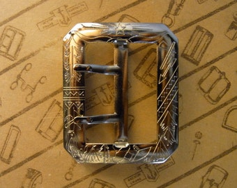 """No.1002 1930's Reproduction Buckle 1 3/4"""" for Studded Jeweled Western Belt"""
