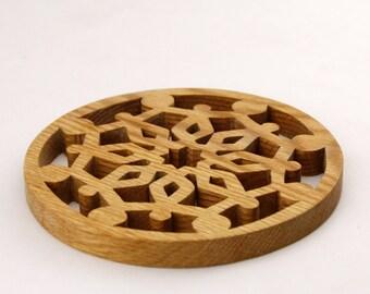 Oak Trivet - Potholder - Wooden trivet.
