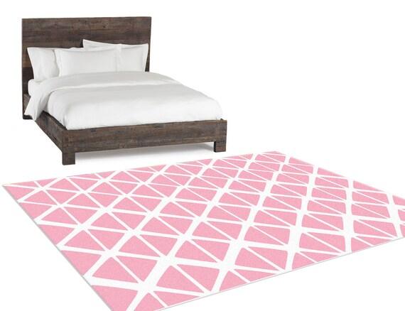 bedroom rug pink geometric bedside rug living room rug