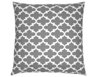 Grid Fulton grey white cushion cover 40 x 40 cm