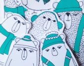 Winter Bears Sticker Pack