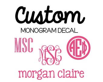 Custom Monogram Decal