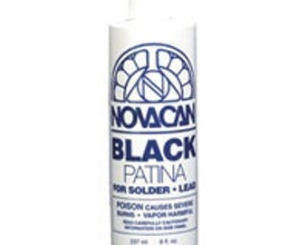 Novacan Black Patina 8oz. Bottle for stained glass